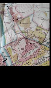 Praga map with places index
